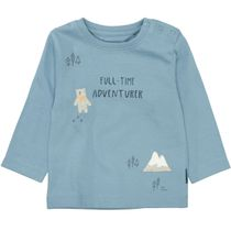 Langarmshirt mit Print - Ice Blue
