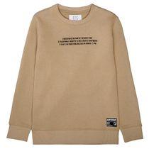 Sweatshirt mit gummierten Wording auf der Brust - Sepia
