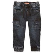 Cargo Jeans mit Tunnelzug - Black Denim