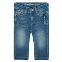 Mädchen Capri Jeans Slim Fit - Mid Blue Denim