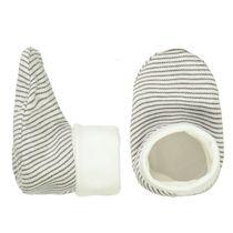 ORGANIC COTTON Schuhe - Offwhite Streifen