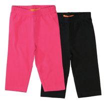 Capri-Leggings Doppelpack - Schwarz/Pink