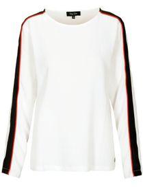 FRY DAY Bluse - Langarm mit kontrastfarbenen Streifen