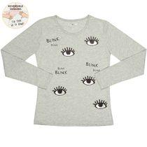 Shirt Blink mit Wendepailletten - Light Grey Melange