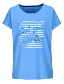 FRY DAY Shirt mit Front-Print - Denim Blue