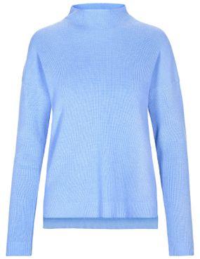 BASEFIELD Turtleneck Pullover - Water Blue Melange