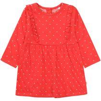 Pünktchen Kleid - Bright Red