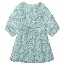 Kleid mit weiten Puffärmel - Mint AOP