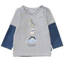 Langarmshirt 2in1 DINO - Washed Blue