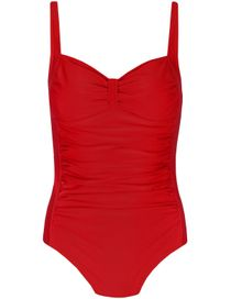 CLARINA Badeanzug mit Raffungen - Rot