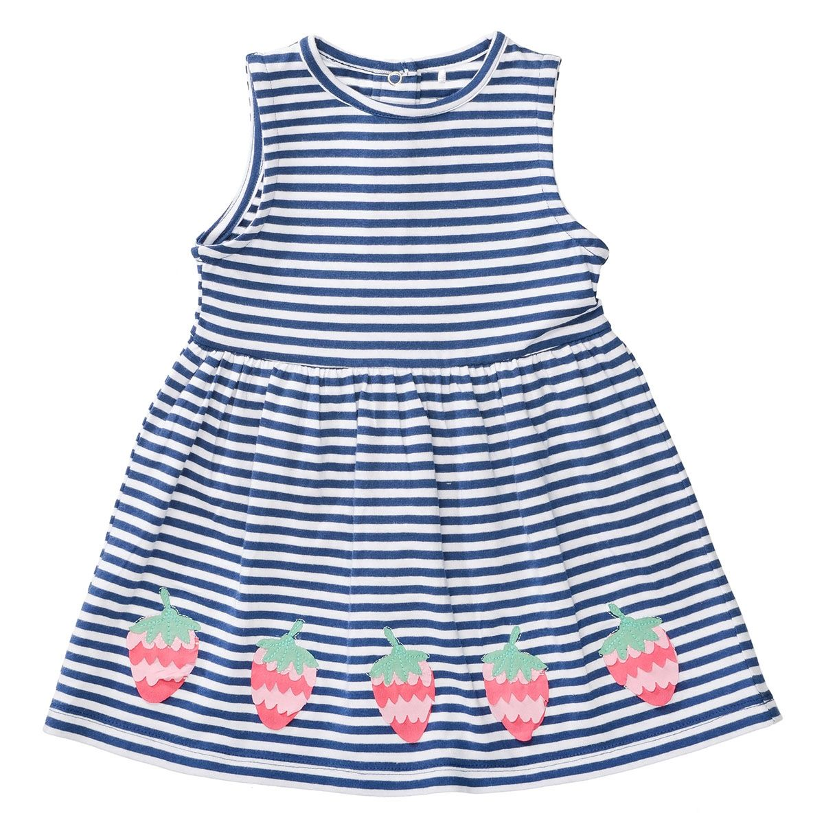 Kleid ERDBEERE - Blue Streifen