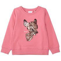 Sweatshirt mit Pailletten - Dark Rose