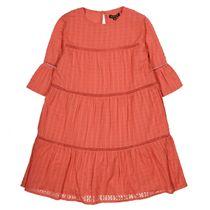 Kleid mit Strukturmuster - Indian Red