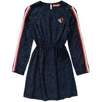 Kleid LEO - Marine Alloverprint