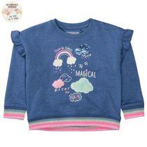 Sweatshirt mit Print - Indigo Melange