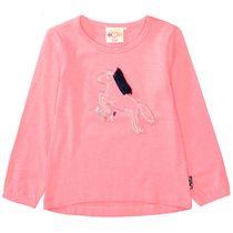JETTE Langarmshirt mit Pferde-Applikation auf der Front - Candy Pink