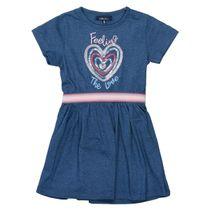 ATTENTION Kleid mir Pailletten-Herzen - Deep Blue Melange