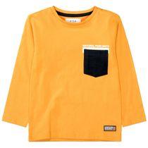 Langarmshirt mit Brusttasche - Mustard