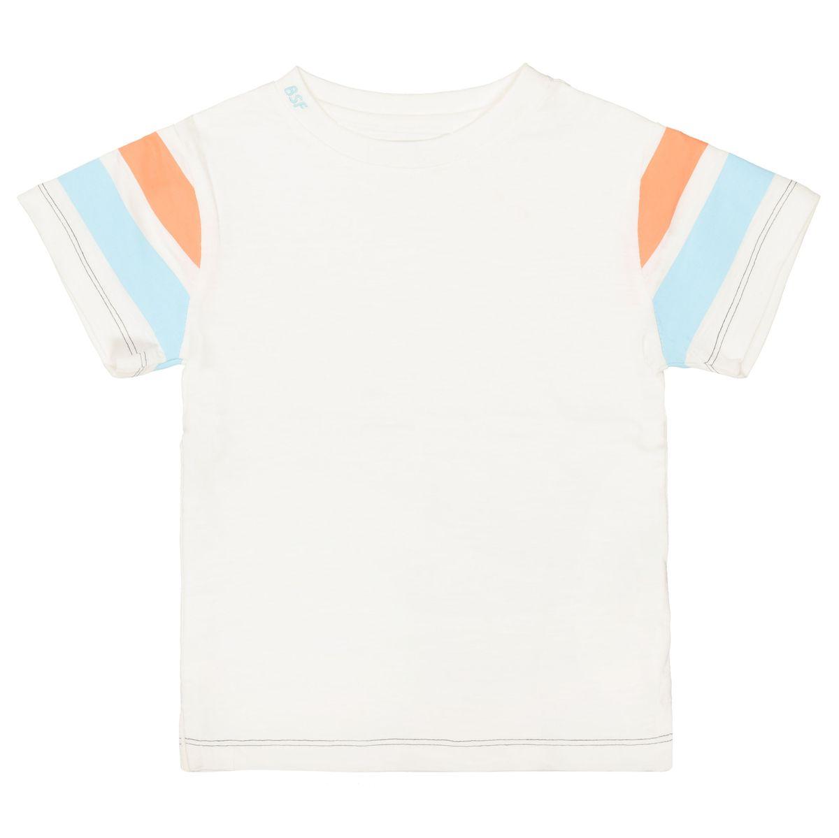 T-Shirt - T-Shirt mit Kontraststreifen mit Kontraststreifen - Offwhite