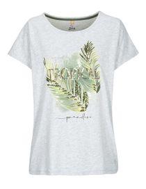 FRY DAY Shirt mit Frontprint - Silver Melange