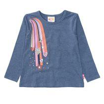 JETTE Langarmshirt mit einem modischen Print - Blue Neppy