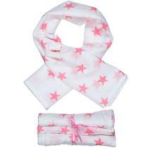 Mulltücher 3er-Pack - Weiß-Rosa