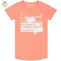T-Shirt GOOD LIFE Wendepailletten - Flash Coral