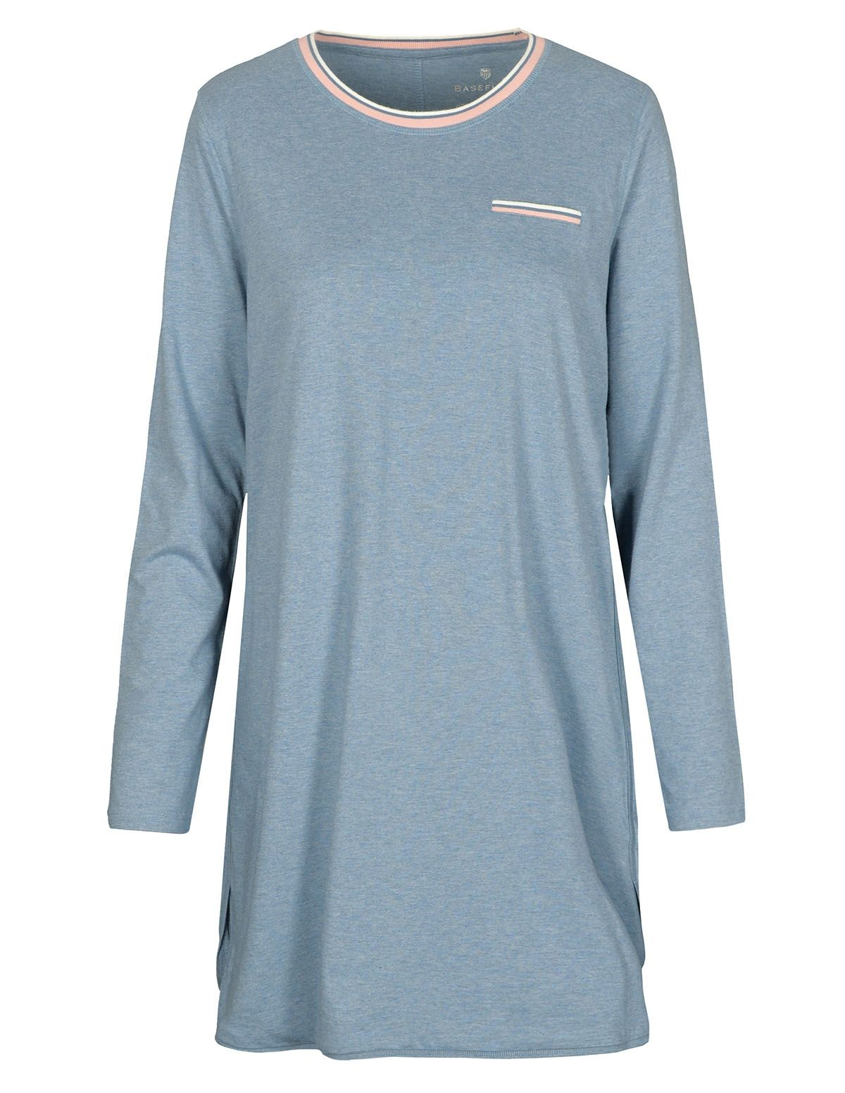 BASEFIELD HOMEWEAR Nachthemd - Blau Melange