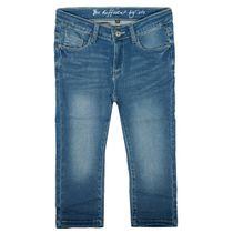 Capri-Jeans mit verwaschener Optik - Mid Blue Denim
