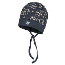 ORGANIC COTTON Mütze mit Allover-Print - Navy