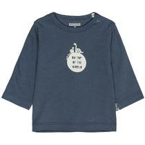 ORGANIC COTTON Langarmshirt TOP OF THE WORLD - Washed Blue