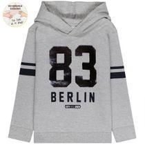 Kapuzensweatshirt 83 Wendepailletten - Warm Grey