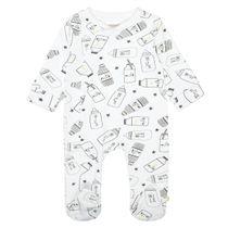 ORGANIC COTTON Pyjama mit Allover-Print - White