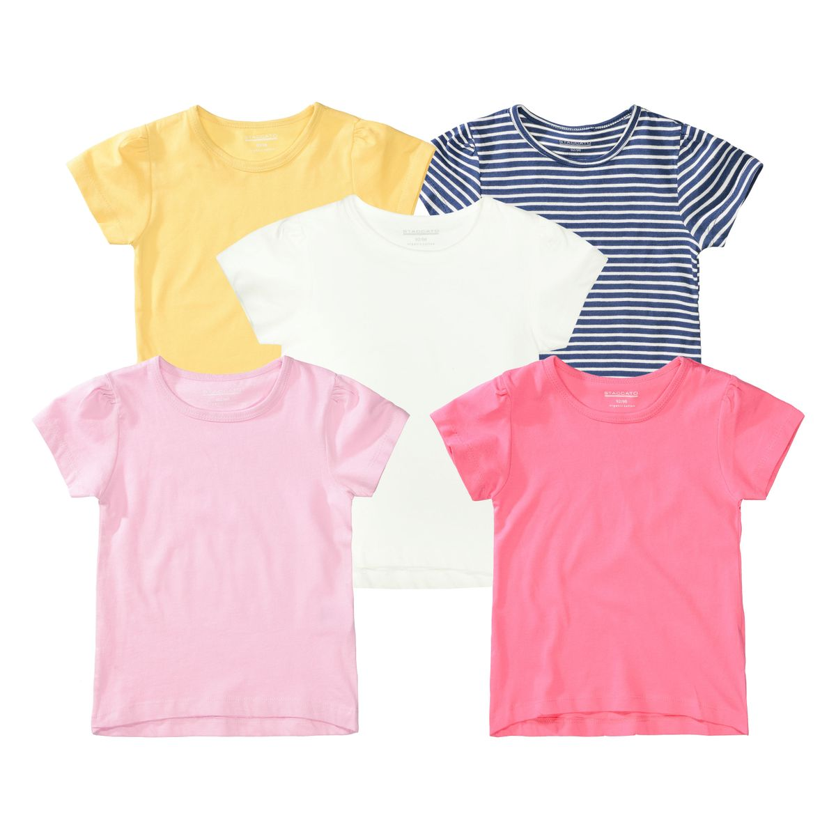 ORGANIC COTTON T-Shirt 5er-Pack - Bunt