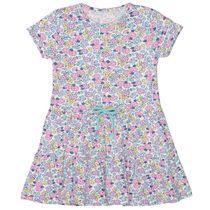Kleid mit Blümchen-Print - Offwhite