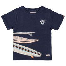 T-Shirt - T-Shirt SURFSPOT T-Shirt mit Surfbrett-Print - Deep Sea