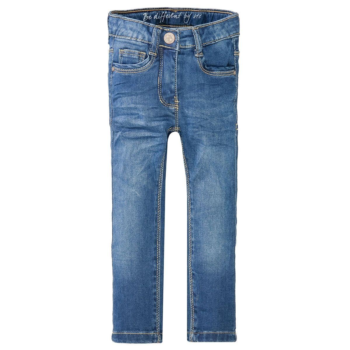 Mädchen Skinny Jeans Slim Fit - Mid Blue Denim