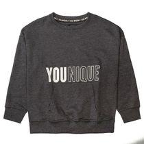 Oversized Sweatshirt mit Print - Anthra Melange