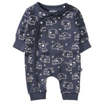 ORGANIC COTTON Overall mit Allover-Print - Navy AOP