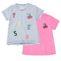 2er-Pack T-Shirts mit Applikation und Pailletten - Bunt Sortiert