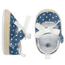 Baby Schuhe mit Punkten - Jeans
