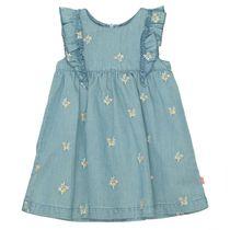 Kleid mit Stickereien - Blue Denim
