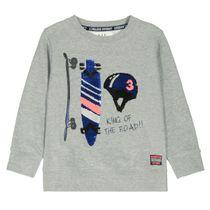 WENDEPAILLETTEN Sweatshirt - Grey Melange