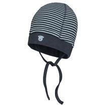 ORGANIC COTTON Mütze mit Allover-Print - Soft Blue