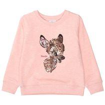 Sweatshirt mit Pailletten - Rose Melange