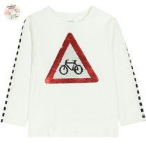 WENDEPAILLETTEN Shirt Fahrrad - Old White