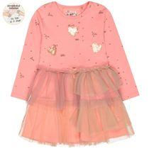 JETTE Kleid mit Tüll-Stufen-Rock - Peach Rose