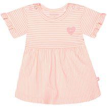 ORGANIC COTTON Kleid mit Streifen - Neon Peach