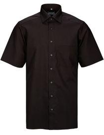 Cityhemd kurzarm MODERN FIT BÜGELFREI - Black
