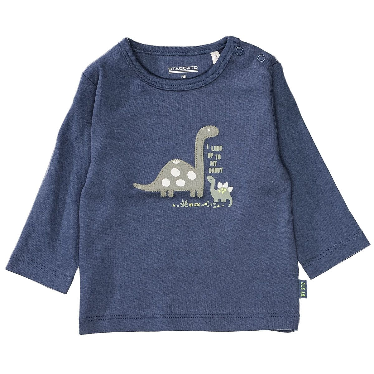 ORGANIC COTTON Shirt mit Applikation - Washed Blue